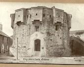 Athlone King Johns Castle County Westmeath  Ireland old unused old Irish vintage postcard Eire
