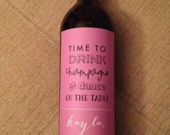 Custom Bridesmaid Wine Label