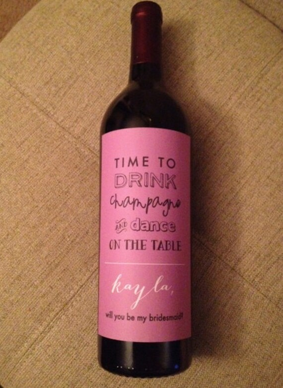 Custom Bridesmaid Wine Label
