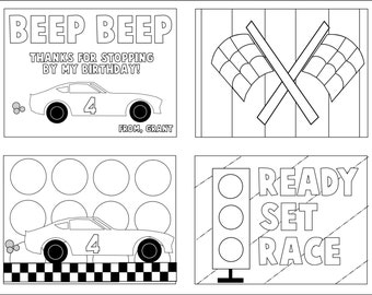 Race Car coloring books