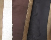 1/4 YARD - Black , taupe, tan, Brown Bonded Sherpa Suede / Bonded Cuddly / Baby Minky Fabric