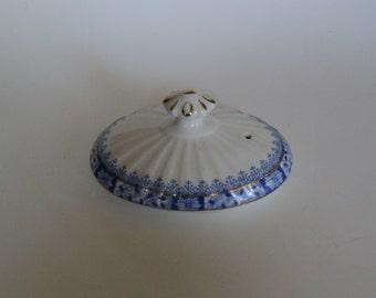 Vintage Teapot Lid Rosslau China Blau Blue
