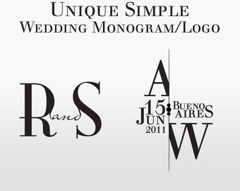 Simple Wedding Monogram/Logo - Custom