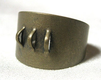 Antique Bronze Ring Blank with Loops For Beading 5 pieces