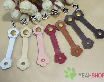 Plum Blossom Sew on Leather Snap Fastener - 7.8cmx2cm - 1 Set (LS4)