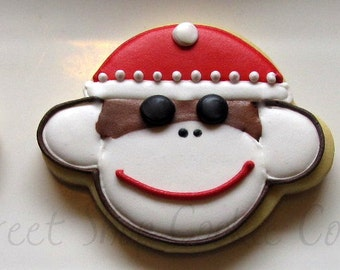 Sock Monkey Cookies 2 dozen