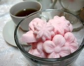 Tea Party Spring Garden of Flowers Shaped Sugar Cubes Roses, Tulips, Forget Me Nots and More