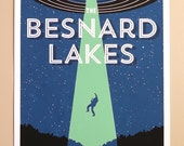 The Besnard Lakes 13 x 19 Screen Printed Gig Poster