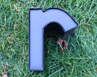 Reclaimed metal letter - r