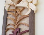 LILY Intarsia carved flower by RAKOWOODS, Easter wall decor, birthday present ,anniversary gift, nice Christmas gift wood art Listing Stats