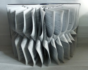"Book Art Sculpture ""Grey"""