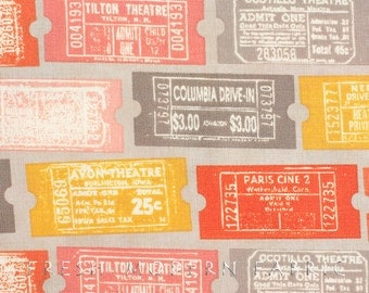 Half Yard 2wenty Thr3e Tickets in Pavement, Eric and Julie Comstock, Cosmo Cricket, Moda Fabrics, 100% Cotton Fabric, 37051 13