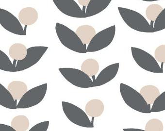Half Yard Glimma Tove in Slate, Lotta Jansdotter, Windham Fabrics, 100% Cotton Fabric, 35380-2
