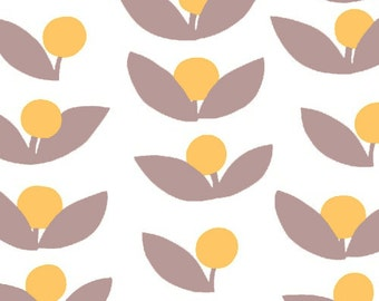 Half Yard Glimma Canvas Tove in Dandelion, Lotta Jansdotter, Windham Fabrics, 100% Cotton Canvas Fabric, 35380C-3