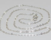20 Inch Chain Necklace Sterling Silver Cable Chain Thin Chain Finished Necklace Chain with Clasp Delicate to Medium 2.4mm by 1.9mm