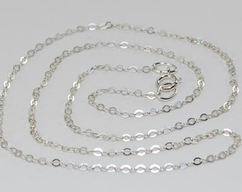 20 Inch Chain Necklace Sterling Silver FINISHED Cable