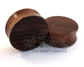 "Walnut Wooden Plugs - PAIR - 2g (6.5mm) 0g (8mm) 00g (9mm) 10mm 1/2"" (13mm) 9/16"" (14mm) 5/8"" (16mm) 3/4"" (19mm) 1"" up to 2"" Wood Ear Gauges"