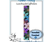 Bead Pattern Loom(Bracelet Cuff)-Flower Frenzy