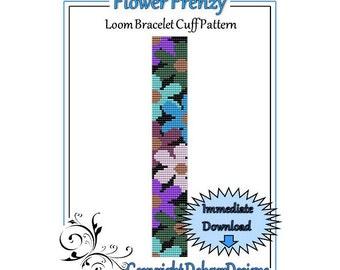 Bead Pattern Loom(Bracelet Cuff)-Flower Frenzy