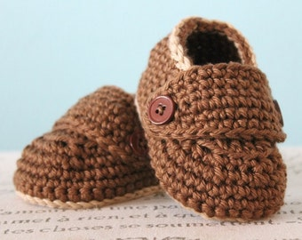 Instant Download - CROCHET PATTERN PDF - Crochet Child Size Loafers Pattern - Baby Booties - Unisex Booties - Boy Booties - Kid and Toddler