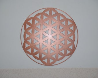 Flower Of Life,COPPER Look, Metal Wall decor, Metal Art