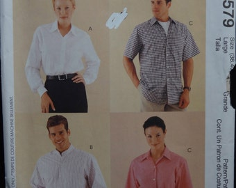 McCalls 9579  Mens and Womens 3 Hour Shirt.