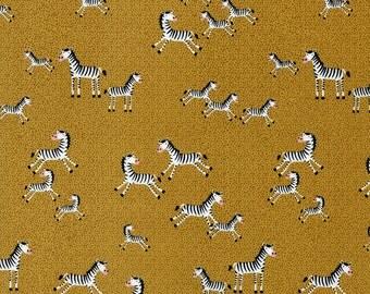 Mini Zebras in Gold - 1 yard