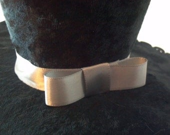 Black Tie formal steampunk victorian mini top hat