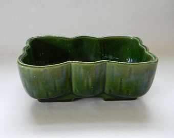 PLANTER, Shaded Green Pottery UPCO Planter