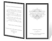 Wedding Program Template Printable - INSTANT DOWNLOAD - Calligraphy Flourish