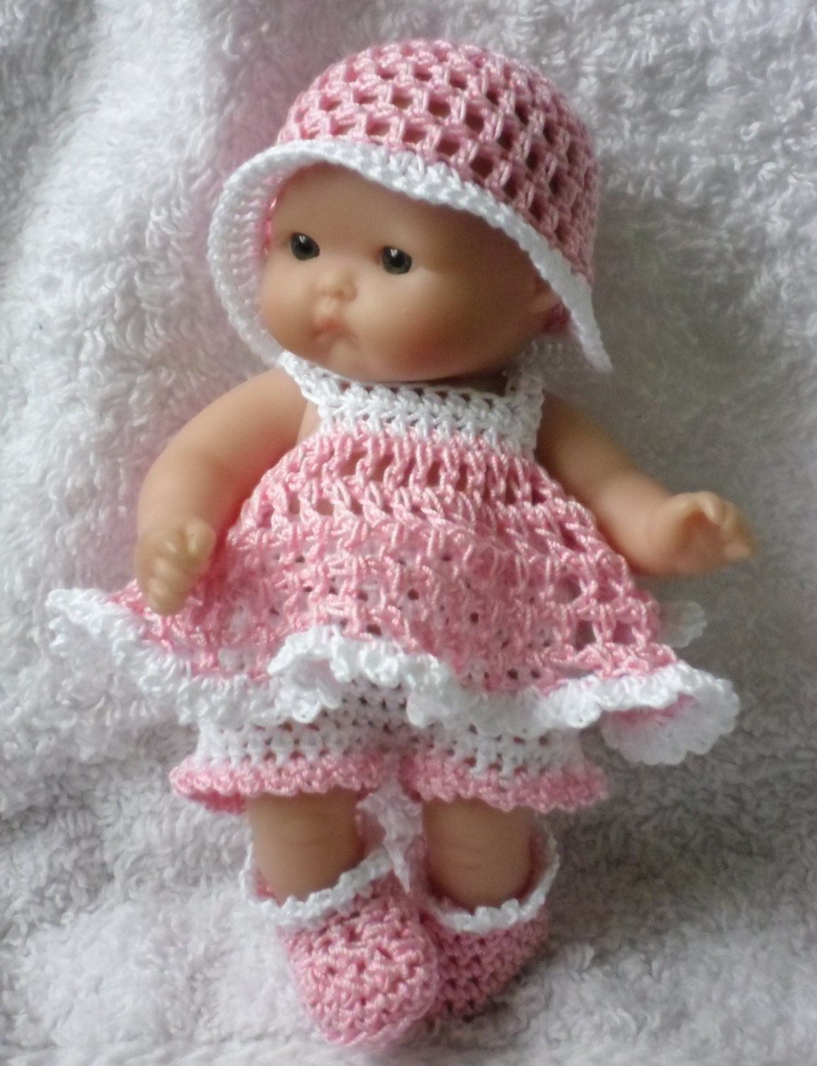 Crochet Pattern For Berenguer 5 Inch Baby Doll Dress