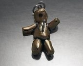Sterling Silver and Shibuichi Voodoo Doll Pendant Men's