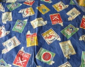 Vintage Cigarette packs themed novelty material Camel Holy Smokes Play Ball Chesterfield Rare