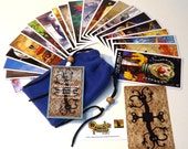 Twisted Toyland Tarot Cards - 22 Card Major Arcana Deck (With Handmade Tarot bag)