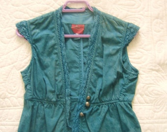 Vintage sleeveless cotton cardigan