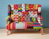 Striped Wing Back-patchwork sofa - namedesignstudio