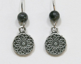 Celtic Knot and Labradorite Earrings