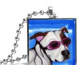 Dog in Doggles Necklace - Original Design