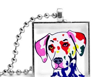 Dalmatian in Color Necklace - Original Design