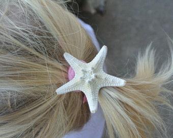 Starfish Hair Ties, Beach Wedding, Girl Hair, Bridesmaids Hair, Flower Girl Favor