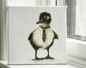 Hard Working Duck - original painting