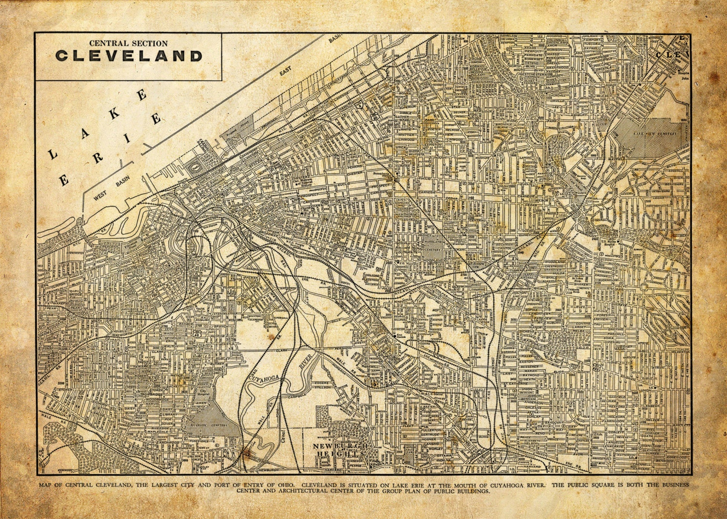 Street map Cleveland Chio