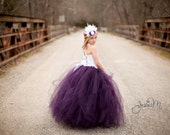Plum Flower Girl Dress.....Corset top and tutu skirt. ..Create your own look with custom colors..Weddings, party dress, birthdays