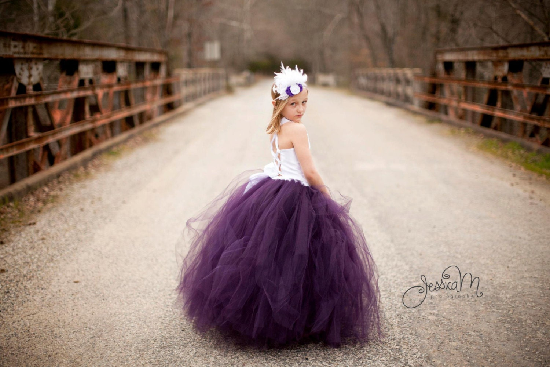 Plum Flower Girl Dress.....Corset top and tutu skirt. ..Create