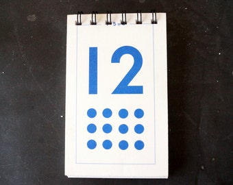 Vintage Flash Card Notebook, Number 12 (50 various pages) - Perfect for To-Do Lists, Shopping Lists, and Big Ideas