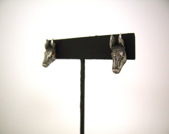 Armadillo Head Earrings