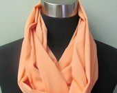 Light Peach Infinity Scarf
