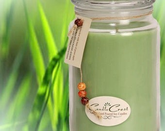 Fresh Cut Grass Soy Candles,   Scenetd , Long Lasting 16oz Soy Wax Jar Candle, Natural Wax Candles