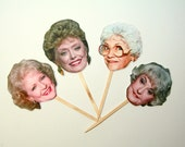 DIY Print at Home Golden Girls Cupcake Toppers - Golden Girls - Dorothy- Blanche- Rose- Sophia- Golden Girls Party- Birthday Party- Reunion