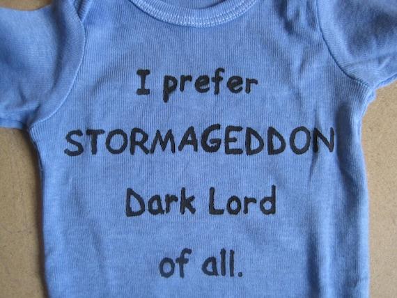 If Babies Named Themselves Stormageddon onesie